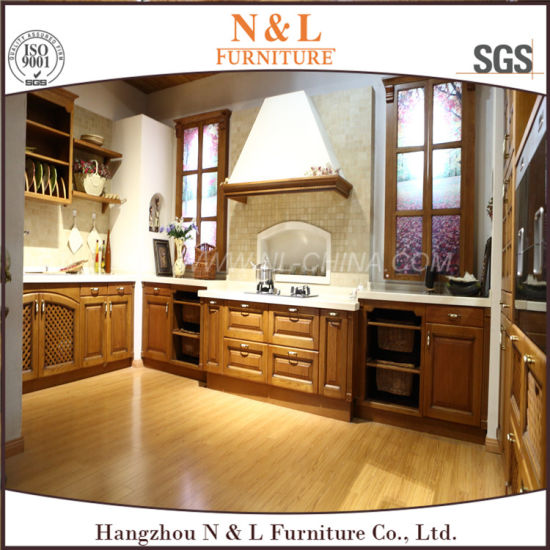 China N L Solid Wood Furniture Free Standing Kitchen Cabinet