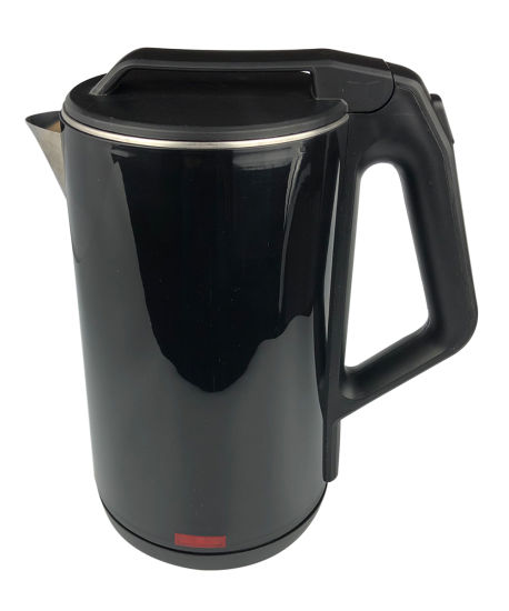 1.8L Dark Black Plastic Electric Kettle 360 Degree Rotating Plastic Kettle