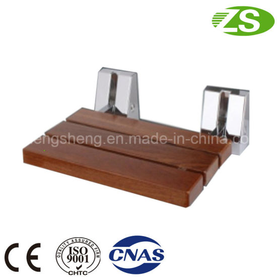 Aluminum Bracket Wood Folding Shower Seat Chair Medical Equipment