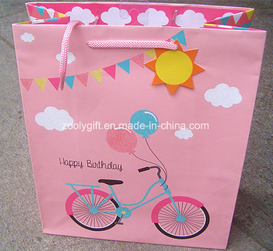 Wholesale Stamping Happy Birthday Printing Paper Gift Bags Pictures Photos