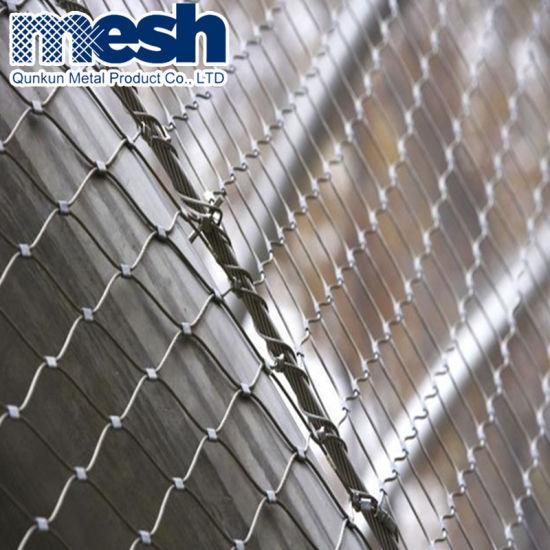 Ferruled Type Stainless Steel Wire Rope Mesh Net