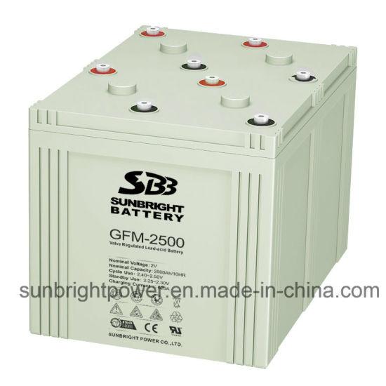 2V2500ah Deep Cycle Maintenance Free Solar Power Telecom Battery