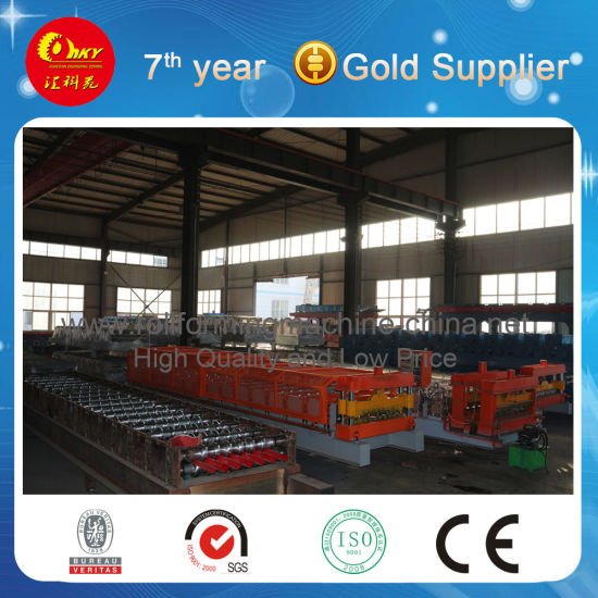 Metal Steel Roof Deck Roll Forming Machine Line pictures & photos