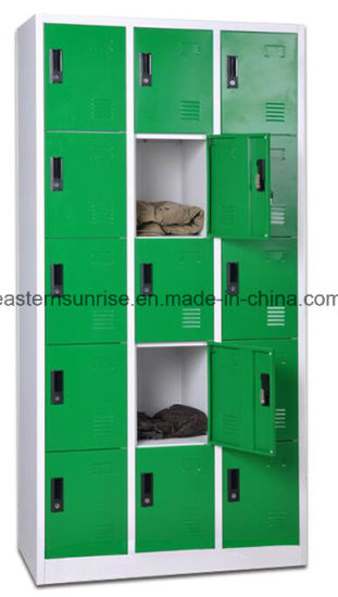 Fifteen Door Metal Steel Iron Clothe Locker/Cabinet pictures & photos