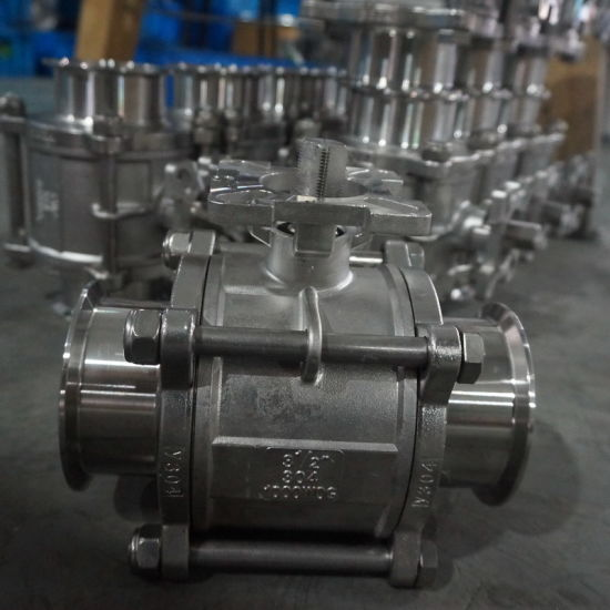 Sanitary Stainless Steel High Quality Encapsulated PTFE Ball Valve