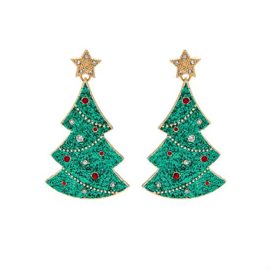 China Fashion Jewelry Christmas Tree Women Gift Glitter Star