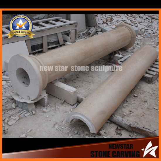 Hollow Granite Marble Columns with Header and Base