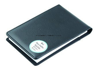 Personal High Quality Pocket PU Leather Padfolio with Pen Holder pictures & photos
