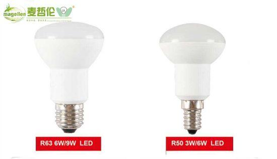 R50 R63 LED Light Bulbs 3W 9W Plastic Aluminum