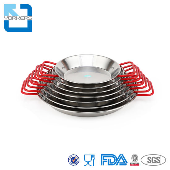 Seafood Pot Pie Dish Stainless Steel Cooking Pot Spain Paella Pan