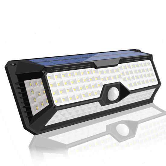Solar Motion Sensor Wall Light Outdoor, New Upgrade 136 LED Solar Lights Outdoor, Motion Solar Lights Outdoor Waterproof, Super Bright Solar Sensor Lights