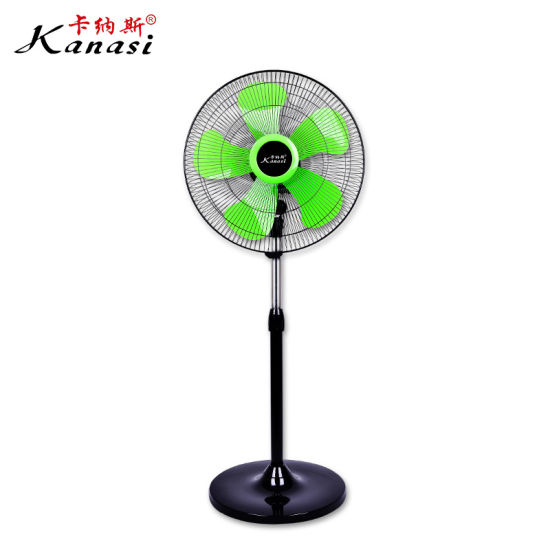 16'' Household Stand Fan with Metal Housing Motor and Adjustable Straight Rod
