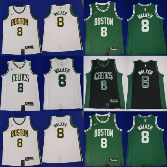 Wholesale 2019 N-B-a Draft Kemba Walker Putian Whatsapp+8615080120654 Basketball Jerseys