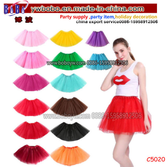 Party Items Tulle Tutu Skirt Dressup Party Costume Ballet Womens Girls Dance Wear (C5020)