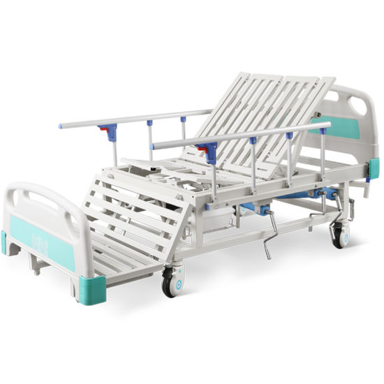 Sk-A07 Adjustable Medical Patient Manual Hospital Healthcare Clinic Bed