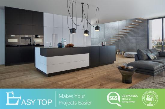 Prefab Contemporary Popular Design Customized Melamine Modern Kitchen Cabinets
