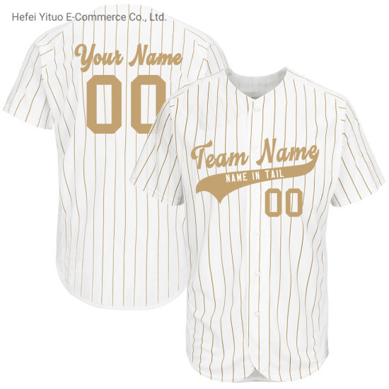 Customized Embroidered Custom Brand Number Polyester Fit Baseball Wear