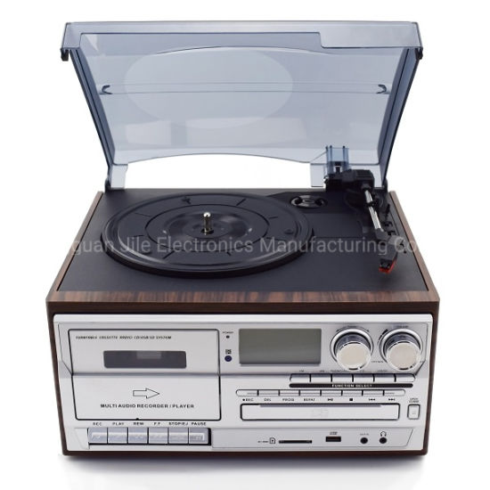 Hot Selling Multi Audio Retro Gramophone Turntable Record Player with Bluetooth CD USB Cassette Encoding pictures & photos