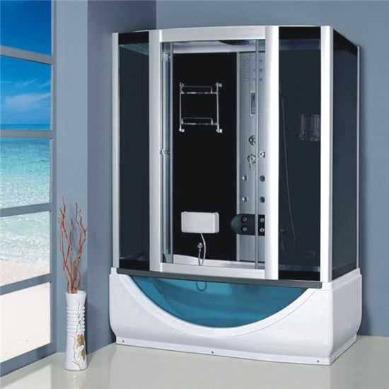 Chinese Corner Complete Sliding Luxury Massage Steam Shower Cabin Tub pictures & photos