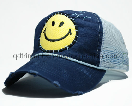 196bc181ac7 Grinding Washed Hand Stitches Applique Embroidery Sport Trucker Cap  (TRT023) pictures   photos