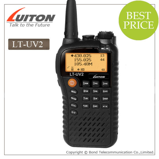 Dual Band VHF/UHF Radio Lt-UV2 Walkie Talkie with FCC Approval