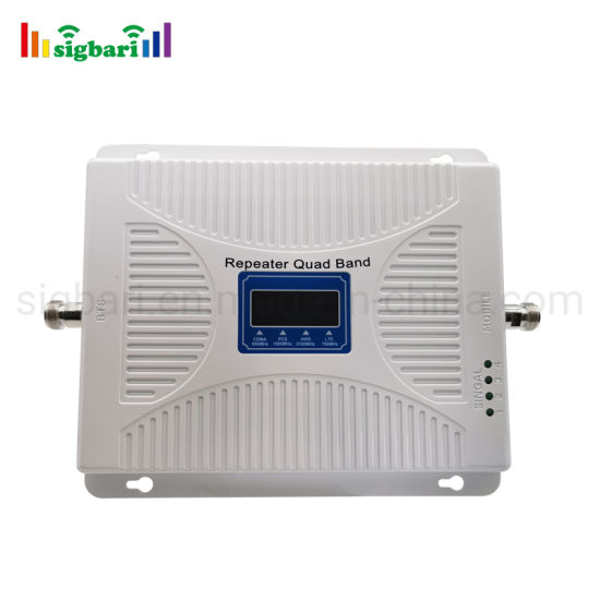 American Countries New Design Quad Band Signal Booster 2g 3G 4G Amplifier 700MHz 850MHz Repeater 1900MHz Aws-1700/2100MHz 4G Signal Booster
