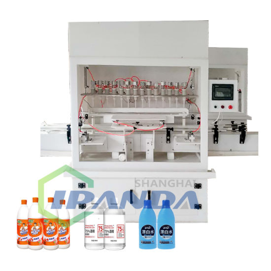 Automatic Anti-Corrsive Bleach Bottle/Toilet Cleaner Filling Capping Labeling Machine