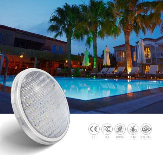 ABS Material 18W 12V RGB IP68 Waterproof PAR56 Light LED Swimming Pool Lamps IP68 Pool Bulb Swimming Pool Light