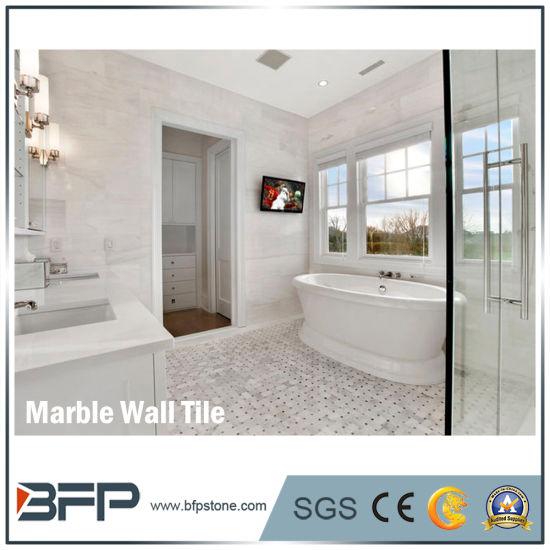 China 1cm Thick Carrara Brick White Marble Interior
