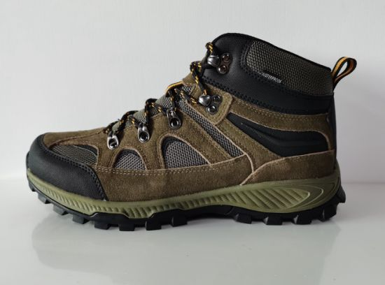 100% Waterproof Trecking Shoes in Wood Brown Colour