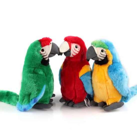 Wholesale Soft Stuffed Plush Baby Toy Simulation Parrot Bird