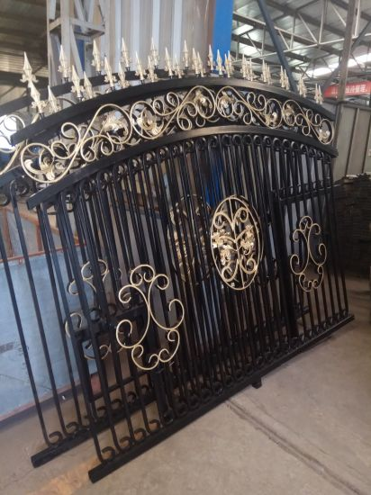 Beautiful Iron/Metal Gate with Gold Decorative Parts