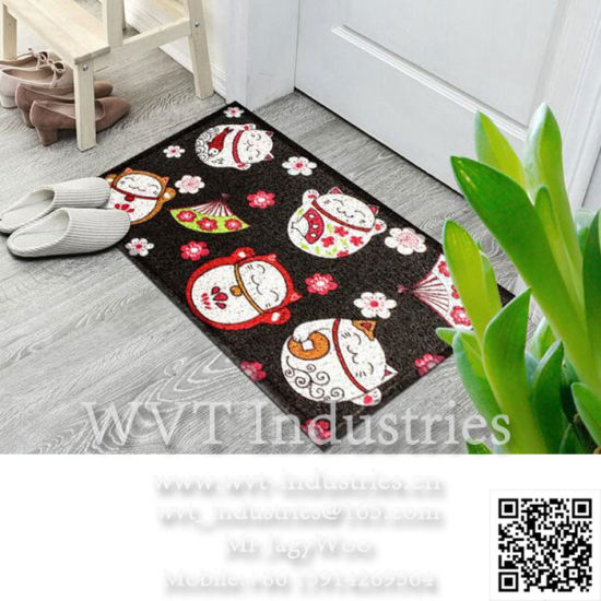 Eco-Friendly PVC Non-Slip Doormat /Welcome Mat/Floor Mat/Bathroom Mat/Car Foot Mat Professional Manufacturer