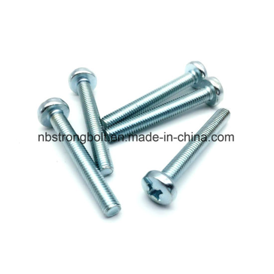 pH DIN7985 Machine Screw with Zinc Plated pictures & photos