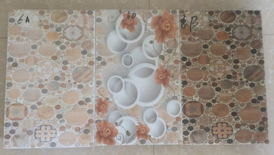 New Design 3d Inkjet Printing Marble Looking Tiles For Kitchen Wall