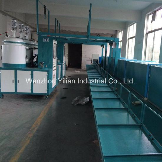 Conveyor Type AC Drive Control PU Machine for Shoe Making