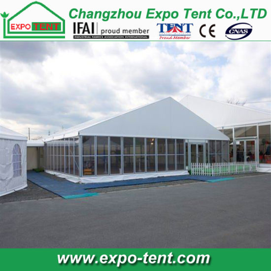 Outdoor Big Waterproof Exhibition Tent with Glass Wall pictures & photos