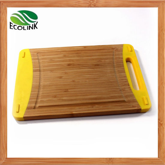 Silicone Bamboo Cutting Board/ Chopping Block pictures & photos