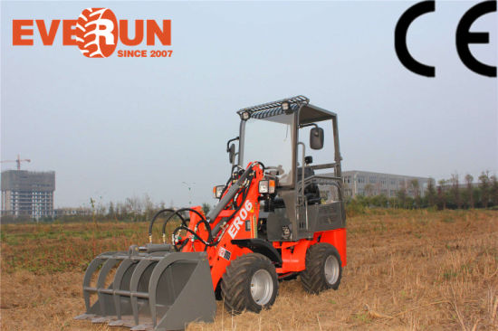 china everun 0 8 ton mini wheel horse loader with farming