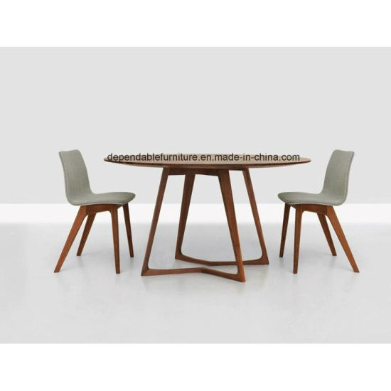 Home Restaurant Furniture Wooden Round Hotel Table and Chairs Dining Room Set
