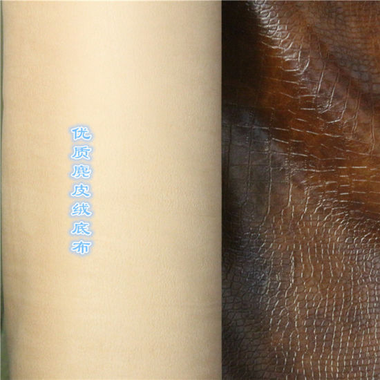 Oil Waxy Imitation Leather for Sofa Furniture Stocklot (1609#) pictures & photos