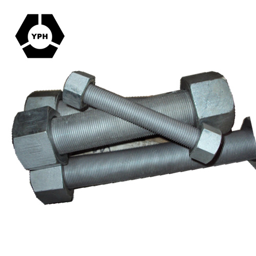 Stud Bolt/Threaded Rods ASTM A193-B7 with Hex Nut A194 2h Stainless Steel Carbon Steel