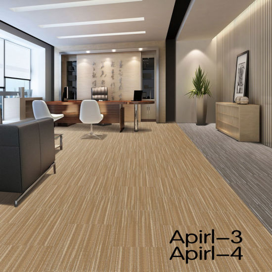 China PP/Nylon/Wool Carpet Tiles/PVC Backing/Cushion Backing ...