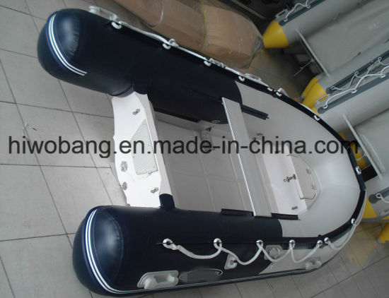 Eye-Catching Design Best Selling Motor Fiberglass Rib Boat pictures & photos