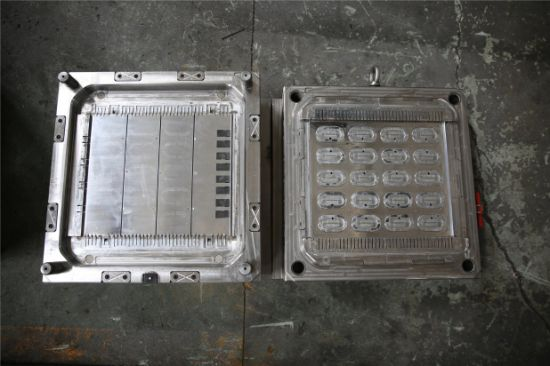 Round Laundry Basket-Side Plate Injection Plastic Mould pictures & photos
