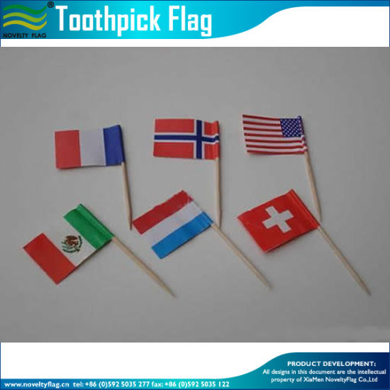 Heart Shaped United State Flag Toothpick (M-NF29F14027) pictures & photos