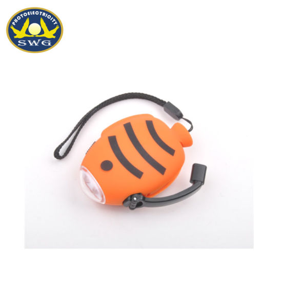 2 LED Tropical Fish Shaped Super Bright Hand Driven Dynamo Torch Light pictures & photos