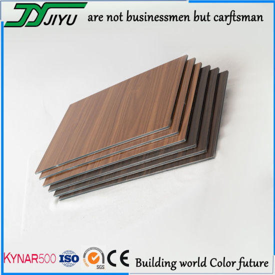 Wood Grain Aluminum Plastic Composite Panel for Cladding
