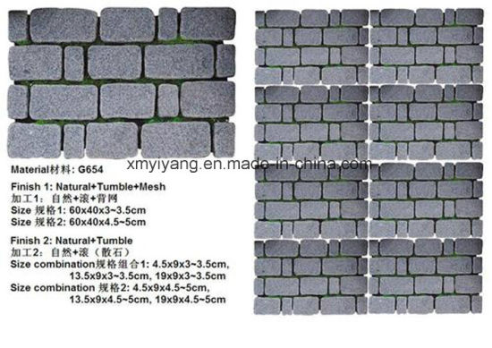 G654/G603/G684/G682/Black Basalt Granite Cube/Cobble/Paving Stone pictures & photos