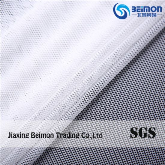 Lozenge Mesh Fabric --Nylon Spandex Diamond Mesh Textile Fabric, Fabric for Girl′s Dress, Stretch Mesh Fabric pictures & photos